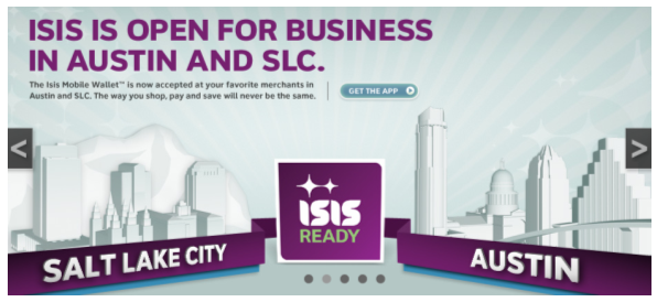 ISIS is conducting a mobile payment trail in two U.S. cities