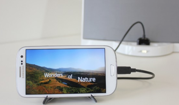 Connect your phone to any Apple speaker dock