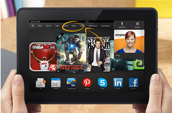 The Kindle Fire HDX is easier to use and has a media-centric interface