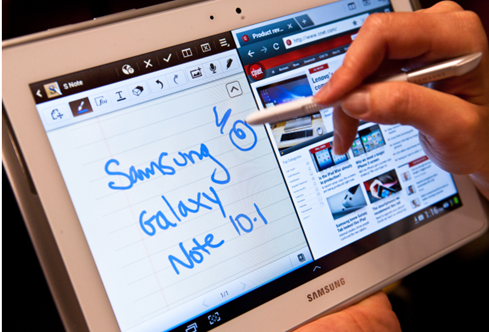 Samsung tablets have much better stylus support than Apple