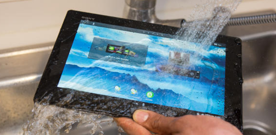 The iPad mini is not water-resistant like Sony tablets