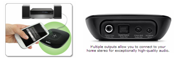 Simply tap your Nexus 10 to enjoy your music playlist through your home stereo speakers