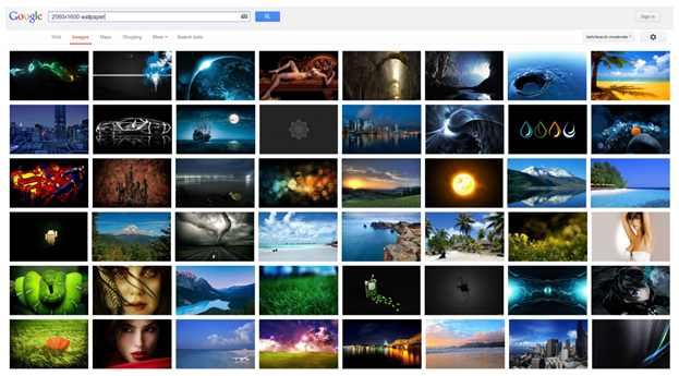 Here are just a few of the free wallpapers available on Google Images