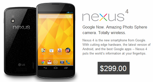 It's now possible to use smartphones like the Nexus 4 with prepaid plans