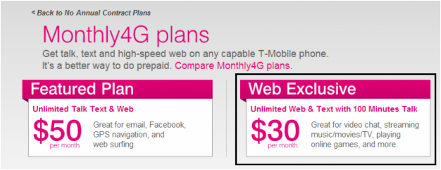 T-Mobile has one of the best pre-paid plans because it's inexpensive and works with premium phones
