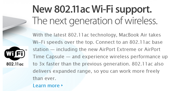Apple raves about 802.11ac in their MacBook and router ads, yet chose to left it out of the iPhone 5s