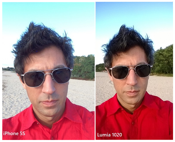 The Lumia 1020 has clear advantages over the iPhone 5s in this daytime shot. Better colors, more definition and detail.