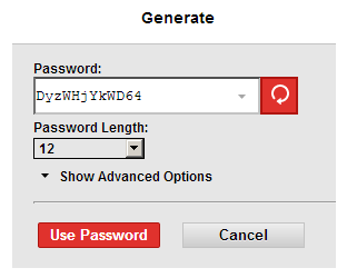 Here is the LastPass password generator