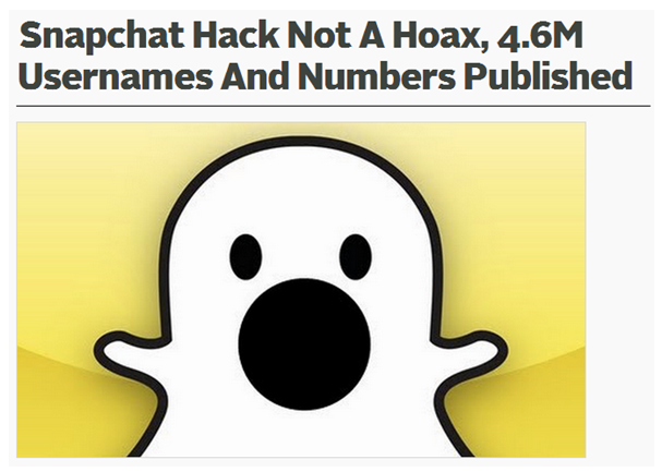 Snapchat just joined the long list of hacked sites